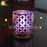 Sostenedores y tarros de cristal de vela de la venta caliente con la palanca de elevación