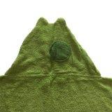 Handdoek Met een kap van de katoenen Kikker van het Bad de Dierlijke voor de Peuter van de Baby