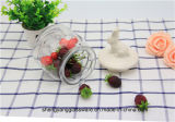 Copo de vidro de qualidade alimentar grossista com tampa de cerâmica