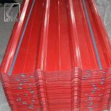 JIS G3312 PPGL Prepainted Trapezoidal Galvalume Telhas Onduladas Folha de aço