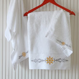 140 70см 600 г белого Баня Отель полотенце