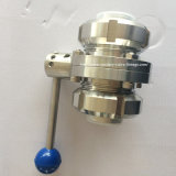 Ss Union를 가진 위생 Threaded Butterfly Valve