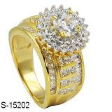 La fabbrica il più in ritardo progetta l'anello d'argento di Hip Hop 925 per le donne Rhodium o la doratura elettrolitica del K
