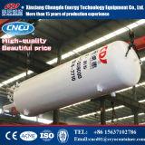 水平の低温液化ガスの酸素窒素のアルゴンタンク