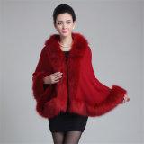 Lady Fashion Paisley tricot jacquard fourrure acrylique châle d'hiver (YKY4461)