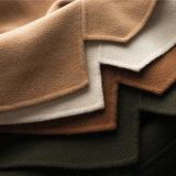 Ladiees Otoño e Invierno 100% Lana de cachemir de doble cara artesanal largo abrigo