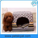 Tecido amarelo Cama Pet Dog Puppy Cat House Fabricante