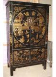 Mobília antiga chinesa Grande armário pintado de madeira Lwa164