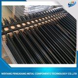 400-2400 tubular de aluminio de alta Negro cerca de Patio