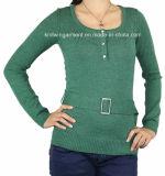 Laag van de Sweater van de Wol van de Winter van vrouwen de Zware met Knopen (12AW-001)