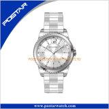 Het zuivere Horloge van het Roestvrij staal van de Kleur Unisex- Digitale