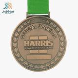 ホーム装飾の青銅カスタムPowerliftingはメダルを遊ばす