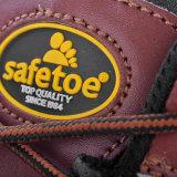 De Natuurlijke Schoenen van uitstekende kwaliteit van de Veiligheid van het Leer met Bruine Neus m-8307 van het Staal