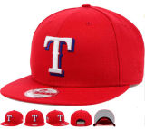 3D刺繍が付いている輝いた赤い綿の急な回復の帽子