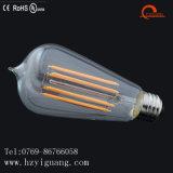 A forma popular do St da economia de energia decorou o bulbo do filamento do diodo emissor de luz