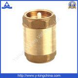 precio de fábrica de latón de 1/2 a 2 pulgadas de la primavera de la válvula de retención (YD-3001)