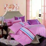 100%年の綿イギリス様式のパッチワークのピンクの羽毛布団カバー寝具