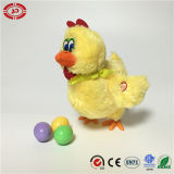 Amarelo eléctricos Hen Plush Funny pôr ovos fofo RoHS Toy