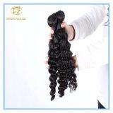 Heiße Verkaufs-natürliche Farben-tiefes Wellen-Malaysia-Jungfrau-Haar Wfmdw-001
