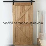Organisation mondiale de meilleure vente de l'intérieur de l'Aulne noueux porte coulissante en bois de grange