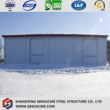 鋼鉄Rebarが付いているプレハブの鋼鉄の梁の構造小屋か倉庫