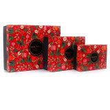 Logotipo personalizado de impresión de la marca de cosméticos conjuntos de caja de embalaje de papel