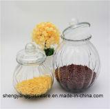 3PCS de pompoen Gevormde Kruik van het Glas van het Voedsel van de Korrel van de Kruik van de Opslag voor Keukengerei