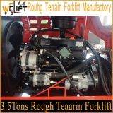 3.5t de ruwe Vorkheftruck Manufactory van het Terrein