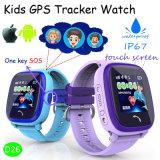 Wasserdichte GPS-Verfolger-Uhr für Kinder/Kind-Sicherheit mit Pedometer D25