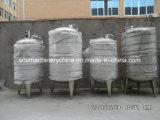 L'horizontale avec trou de visite d'étanchéité du réservoir de stockage