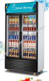 飲み物の飾り戸棚のスーパーマーケットの飲料のキャビネット