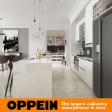 Gabinetes de cozinha brancos de madeira da laca por atacado moderna com console (OP16-Villa01K)