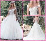 Шнурок шариков мантий шарика Tulle Bridal с плеча плюс платье венчания S201782 размера