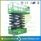 Levage vertical mobile d'homme de gerbeur automoteur de ciseaux