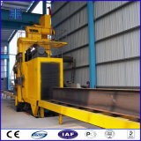 Máquina del chorreo con granalla de la viga de la capacidad H de la adherencia de la capa, paso a través de la pieza de la soldadura y Abrator plateado de metal