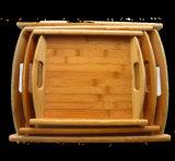 2016 Paletes de madeira com tapete de bambu completo com tiras de binaural