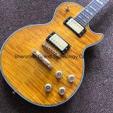 Гитара высшего желтого цвета типа Lp электрическая с оборудованием золота (GLP-545)