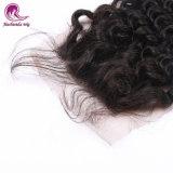 100 % de cheveux humains dentelle Suisse fermeture partie libre Jerry Curly