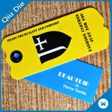 Dois Lados Imprimir Hangtag coloridos para acessórios de vestuário