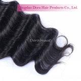 工場販売の競争の毛の織り方の束はブラジルのバージンの毛を対処する