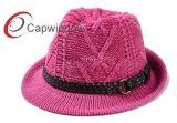 El sombrero de copa de moda de lana de punto