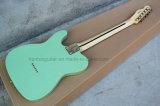 Musique de Hanhai/guitare électrique type télé- vert de Chaîne de caractères-Par l'entremise-Corps