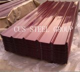 Hoja de acero de la azotea del color/placa de material para techos colorida del metal