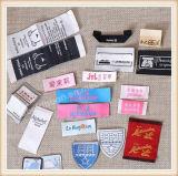Escritura de la etiqueta de encargo del paño de la insignia, impresora de vestir de la escritura de la etiqueta, escritura de la etiqueta tejida de la ropa
