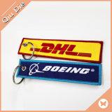 DHL Express Ptach personalizados bordados llavero