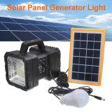 新しいデザイン2ヘッドLED機密保護ライト移動式充電器が付いている太陽検索ライト
