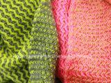 100% полиакрил розовый/зеленый зигзаг трикотажные горловины Шарфа