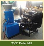 Modelo pequeño motor diésel de la máquina de prensa de pellets de aserrín de madera