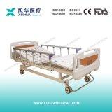Funktions-manuelles medizinisches Bett des Mobile-drei mit Führungsschienen (A-3)