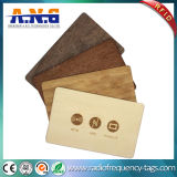 Identification를 위한 회의 Recycled Custom Printed Cards Wood Key RFID Business Card